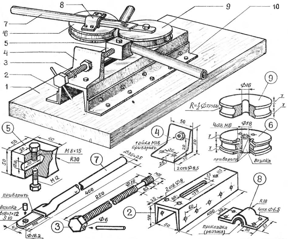 Сделать трубогиб в домашних условиях чертеж